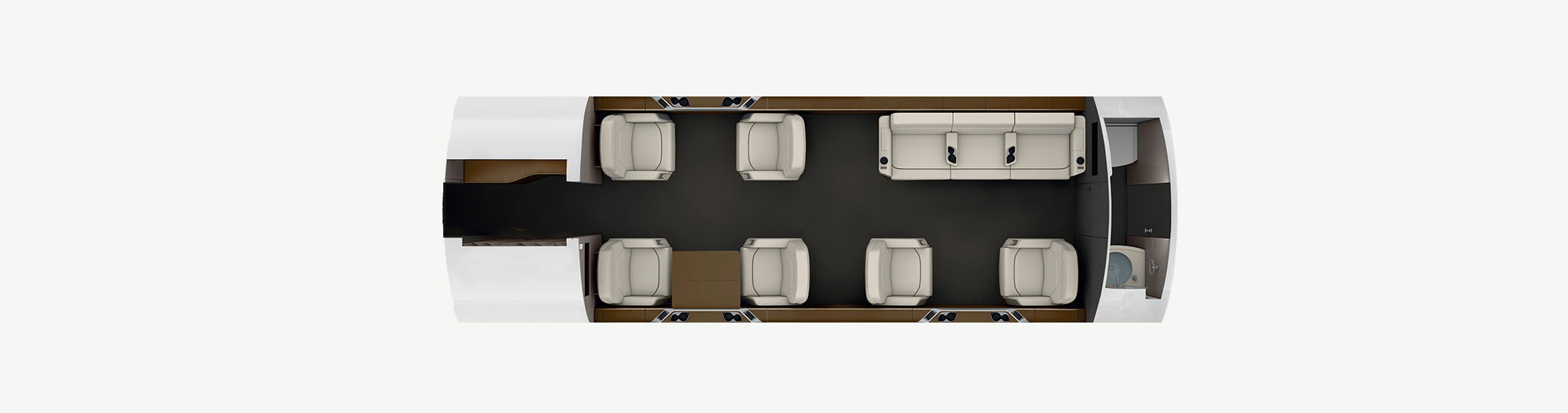 Challenger 650 floor plan