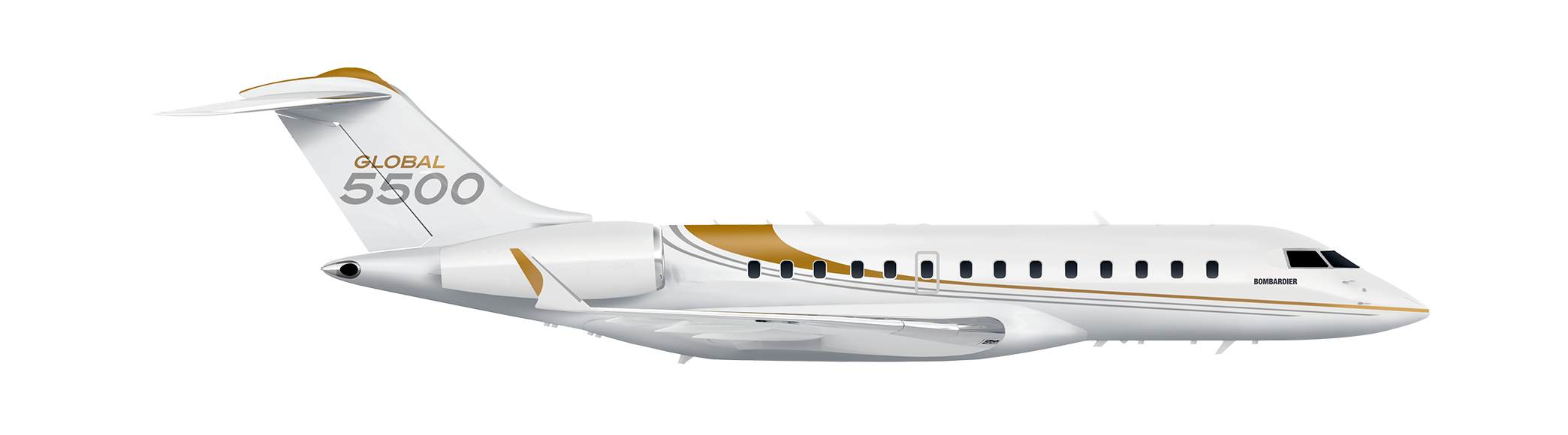 Global 5500 side silhouette