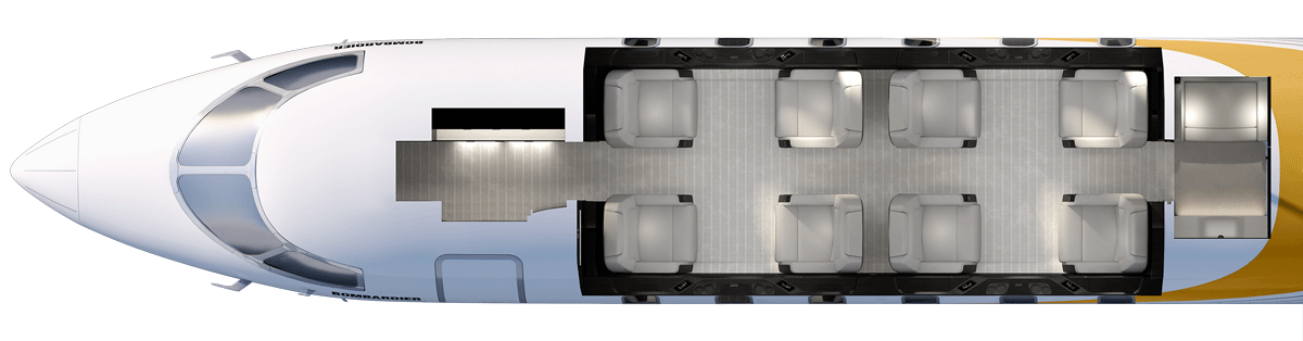 Challenger 350 Floor Plan