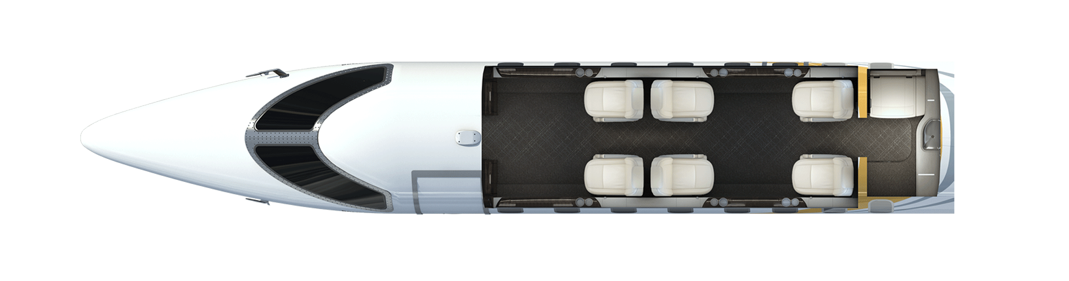 Learjet 75 Liberty Floor plan