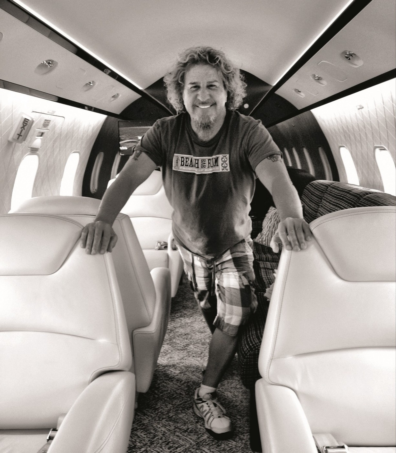 Sammy Hagar on his Challenger 300