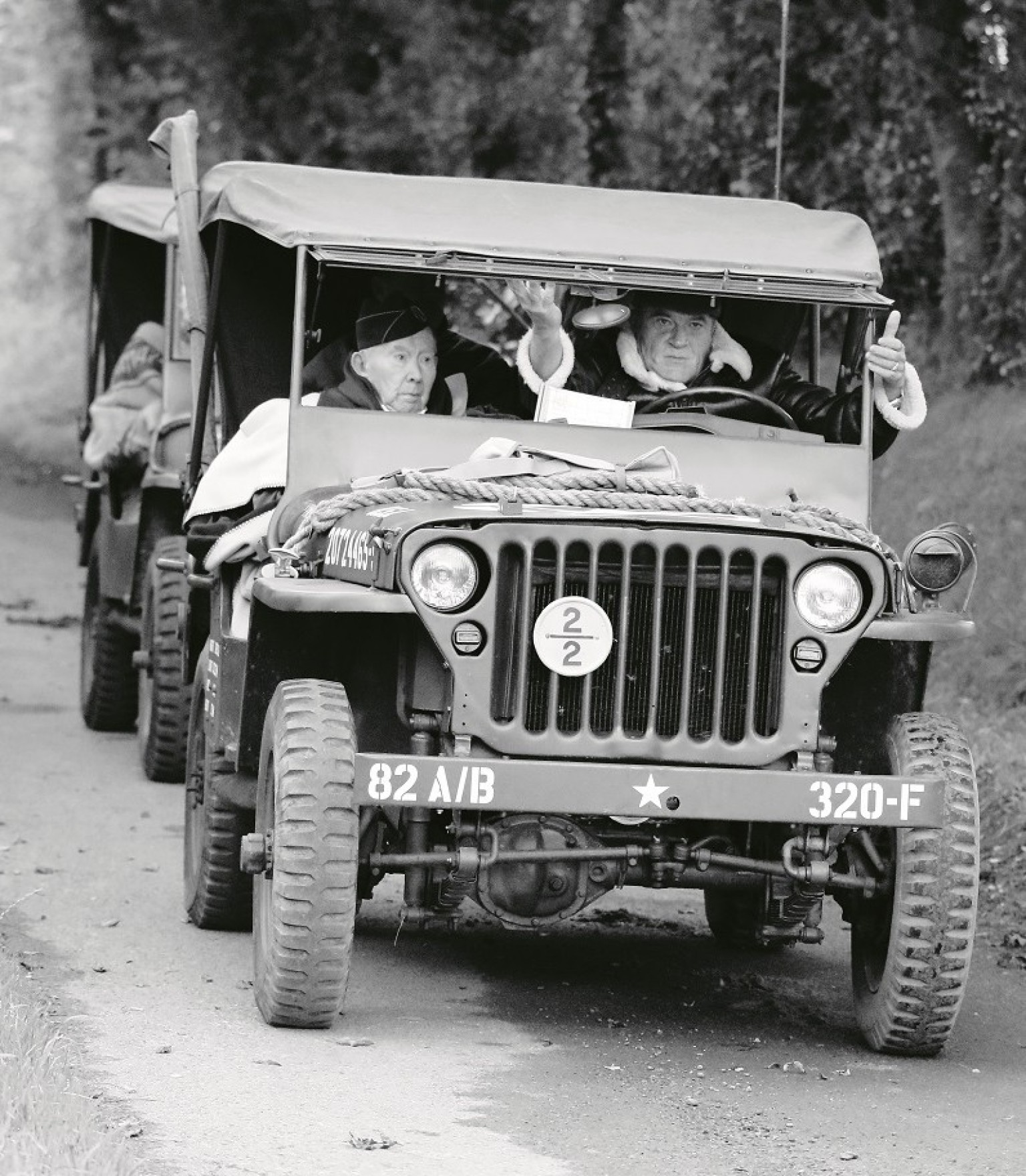 WWII-era Jeeps in Normandy