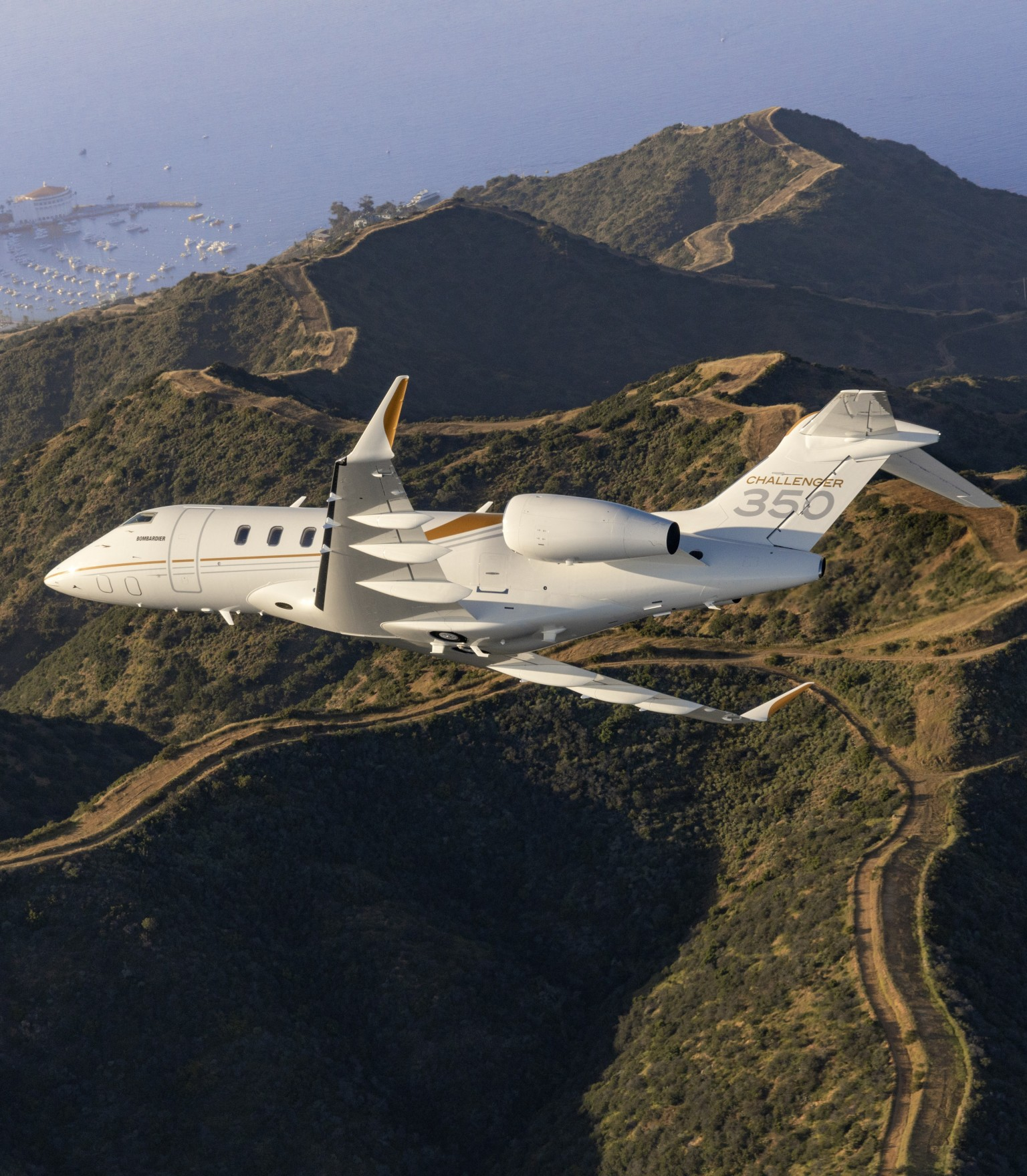 Challenger 350 over Mountains