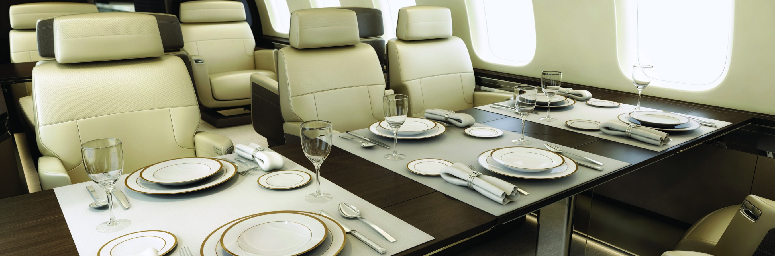 global-7500-private-jet-dining-table