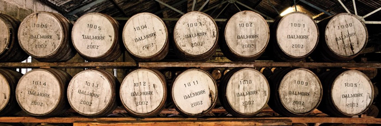 Dalmore whisky distillery casks