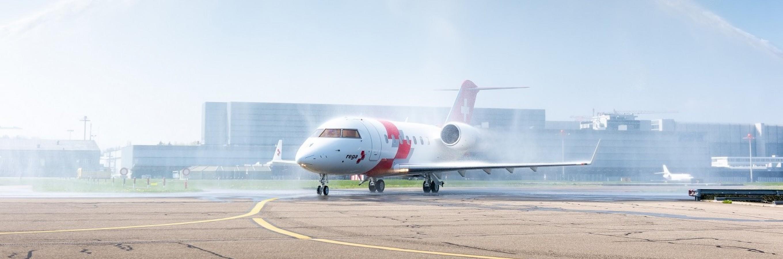 Rega's Challenger jet