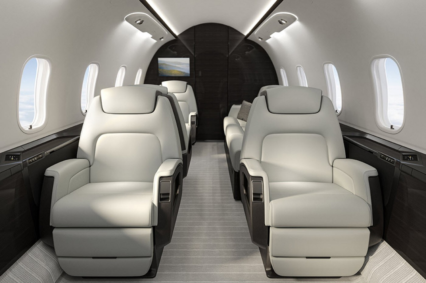 Challenger 350 forward cabin