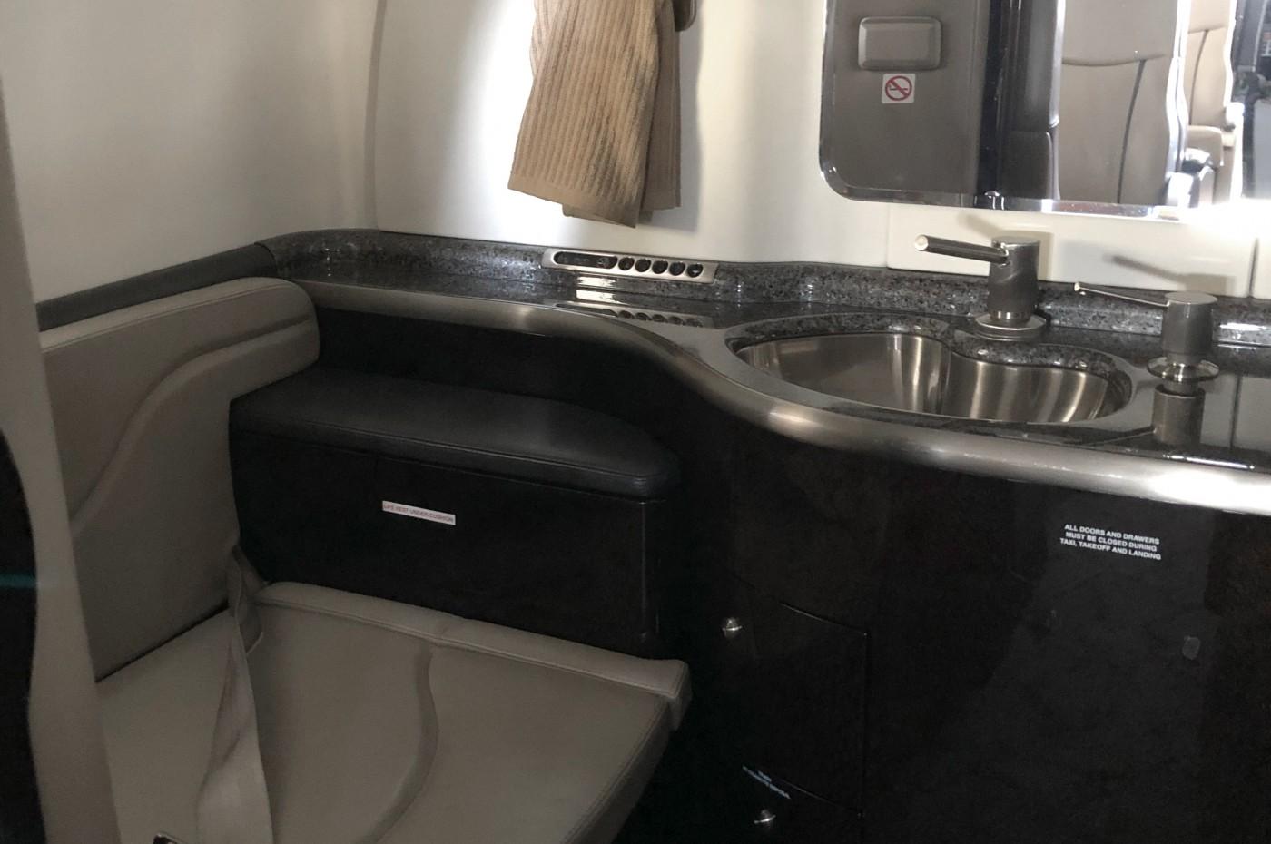 Learjet 45XR Lavatory