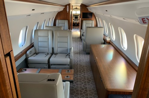 Global 6000 SN 9745 Interior and Credenza