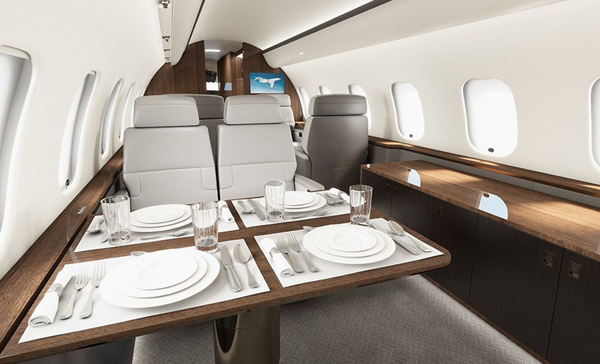 Global 5000 cabin experience