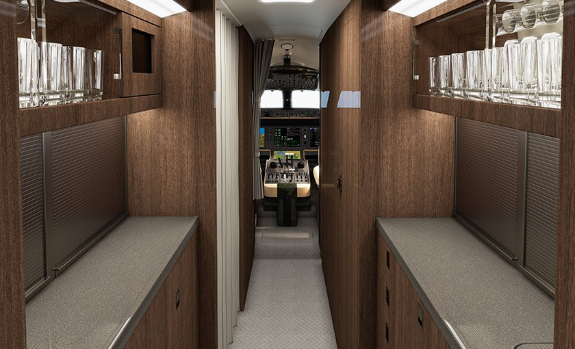 Global 5000 galley