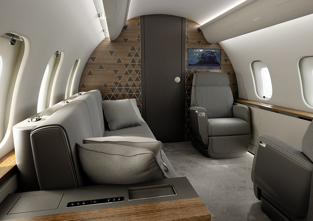 Global 5500 private suite