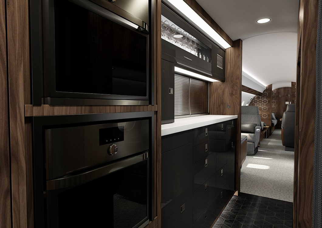 Global 6500 kitchen