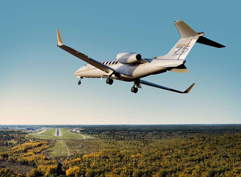Learjet 75 Liberty - The only light jet certified to the highest safety standards