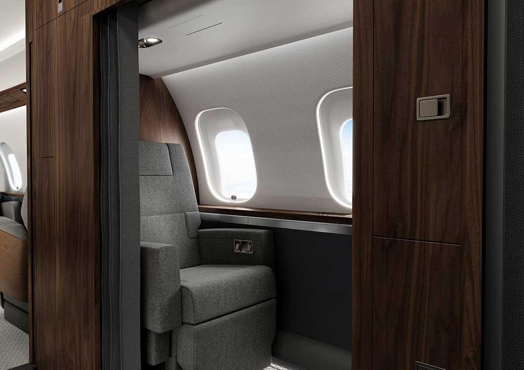Global 6500 - aire de repos de l'équipage