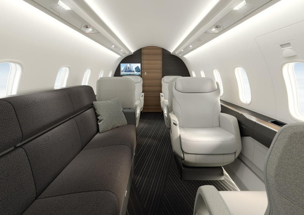 Challenger 3500 cabin