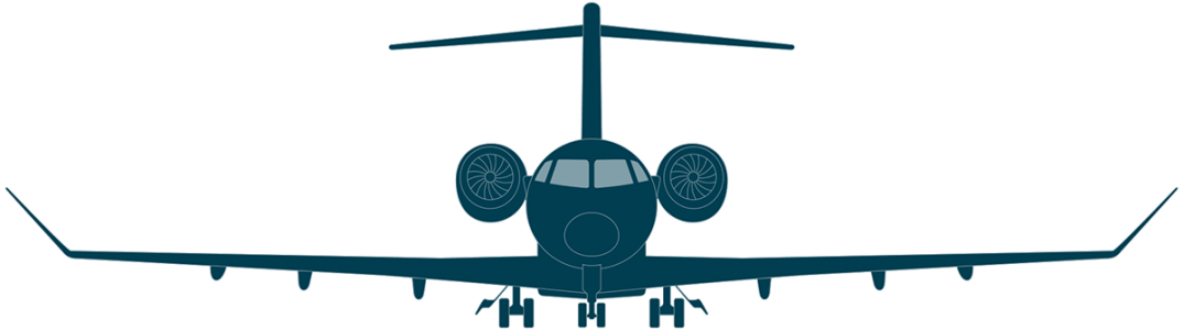 Challenger 350 front view