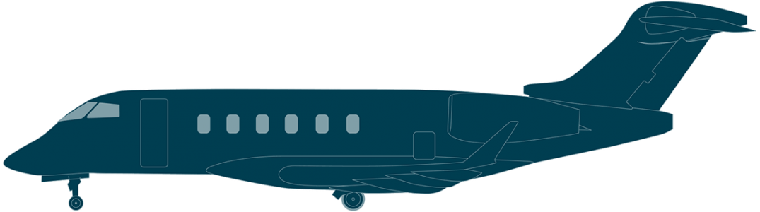 Challenger 350 side view