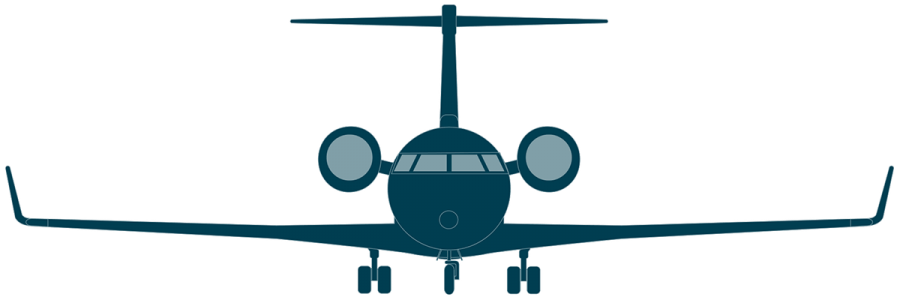 Challenger 650 front view