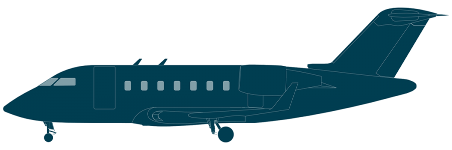 Challenger 650 side view