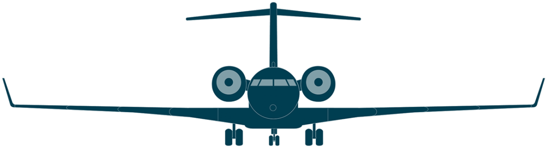 Global 5000 front view