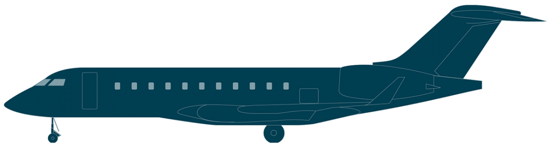 Global 5000 side view