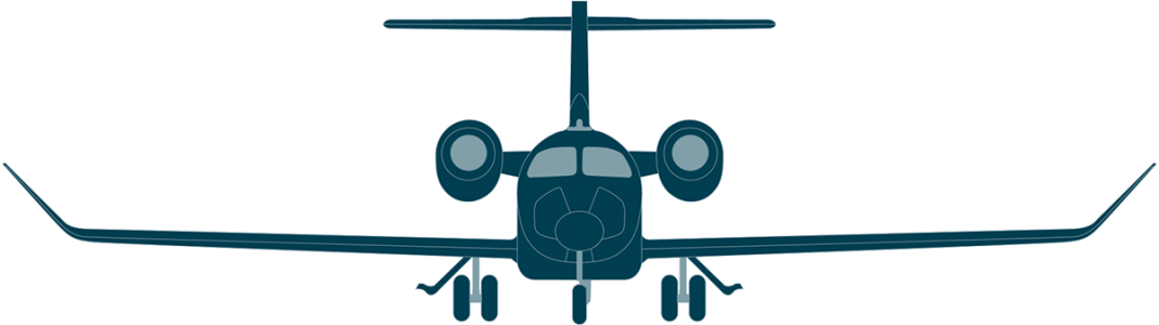 Learjet 70 front view