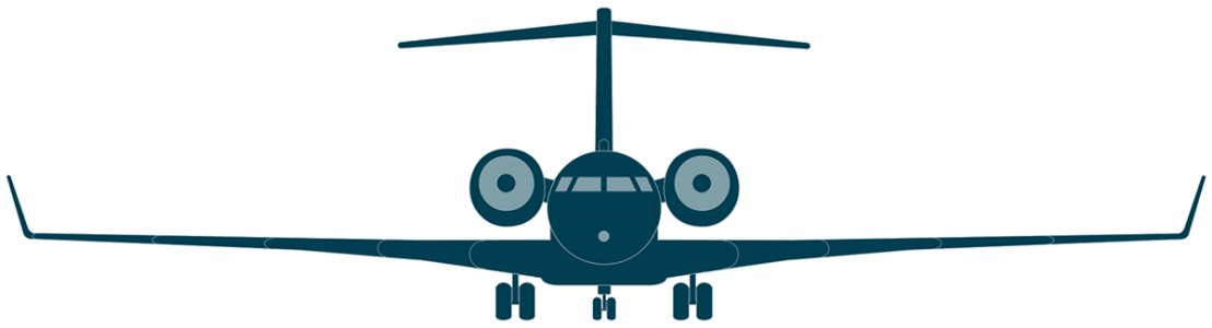 Global 6000 front view
