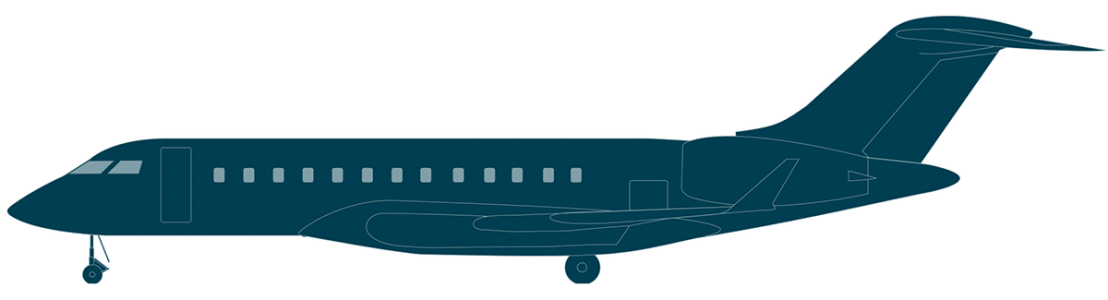 Global 6000 side view