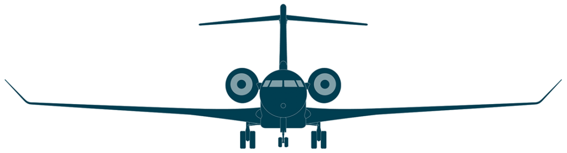 Global 8000 front view