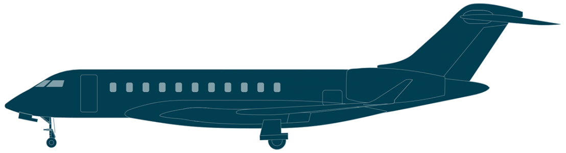 Global 8000 side view