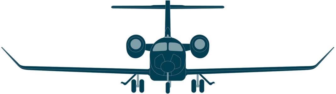 Learjet 75 front view