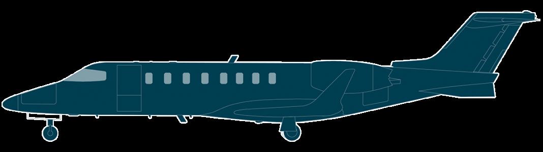 Learjet 75 side view