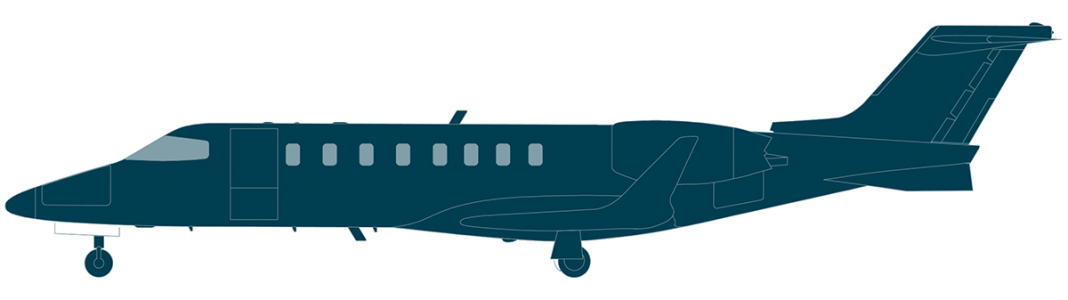 Learjet 75 side view