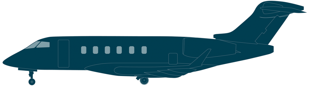Challenger 3500 side view