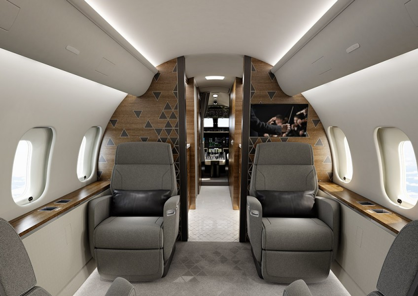 Global 5500 cabin