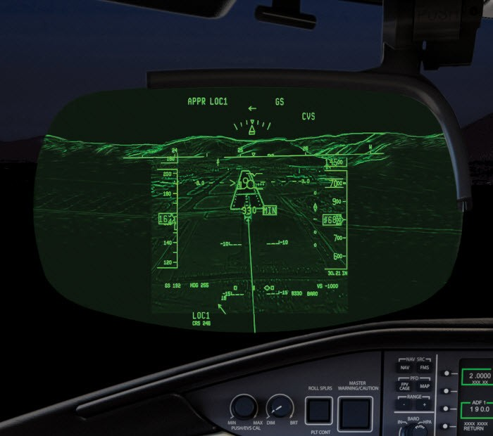 Global 5500 combined vision system