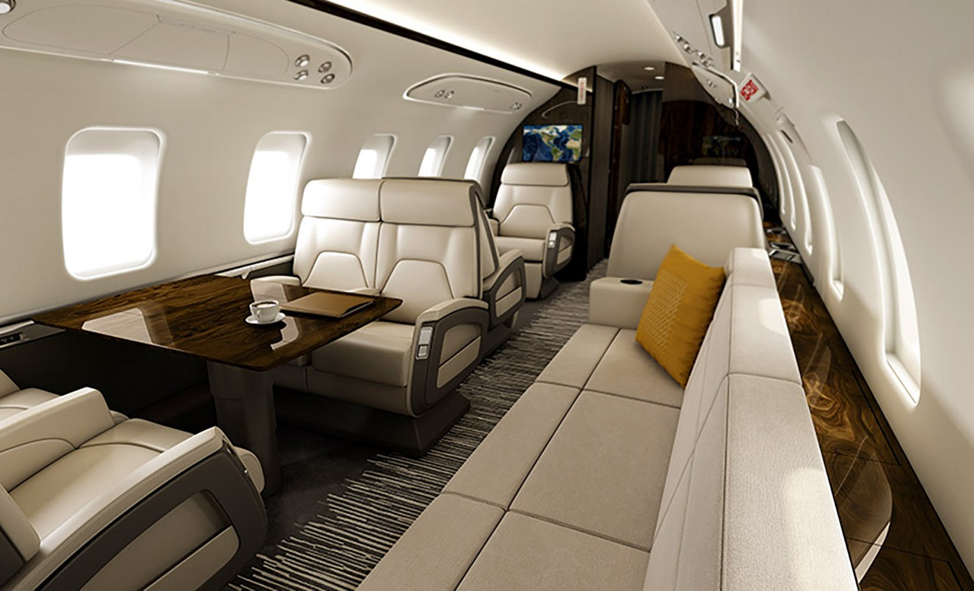 challenger 350 - the widest cabin