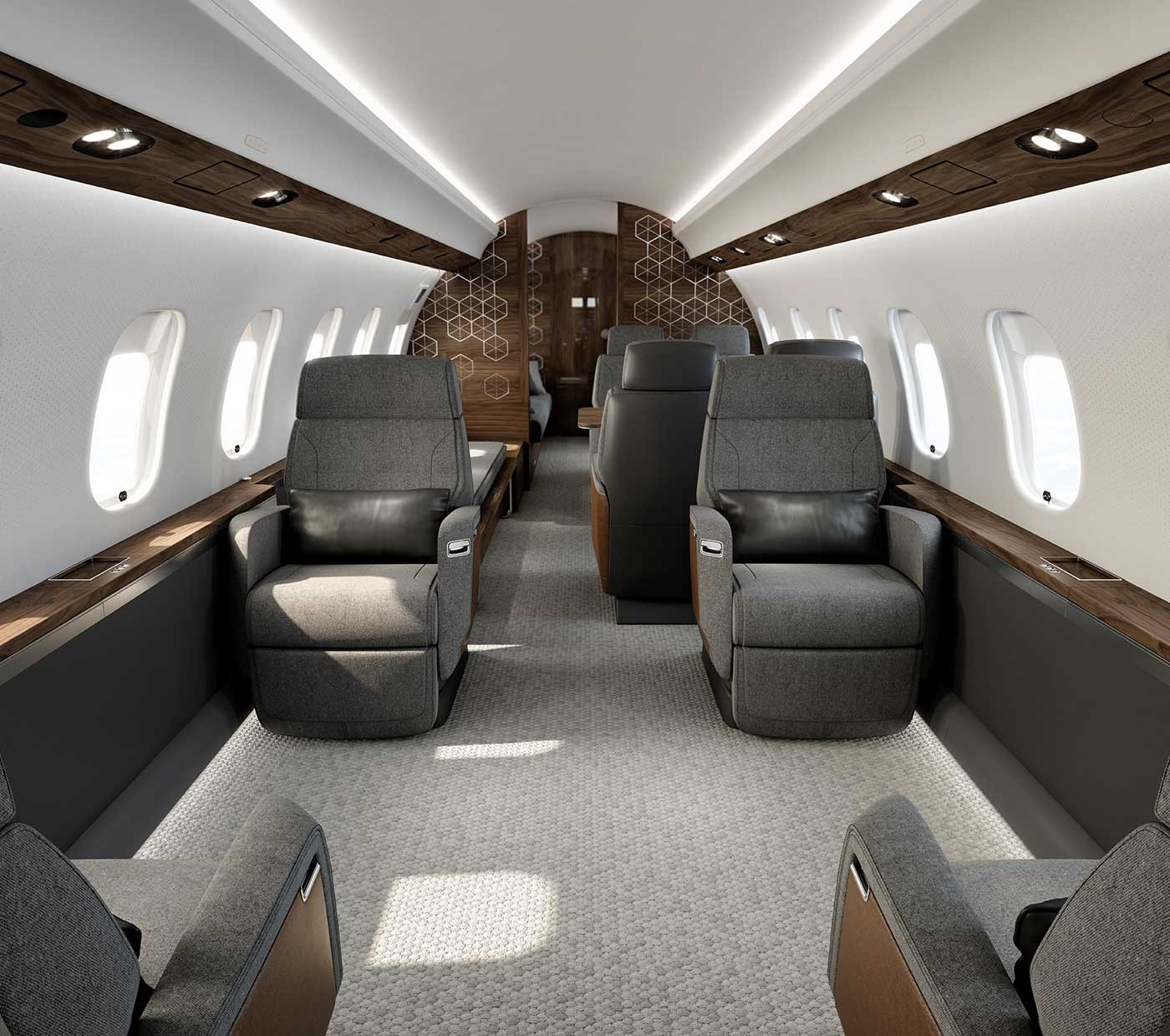 Global 6500 largest cabin