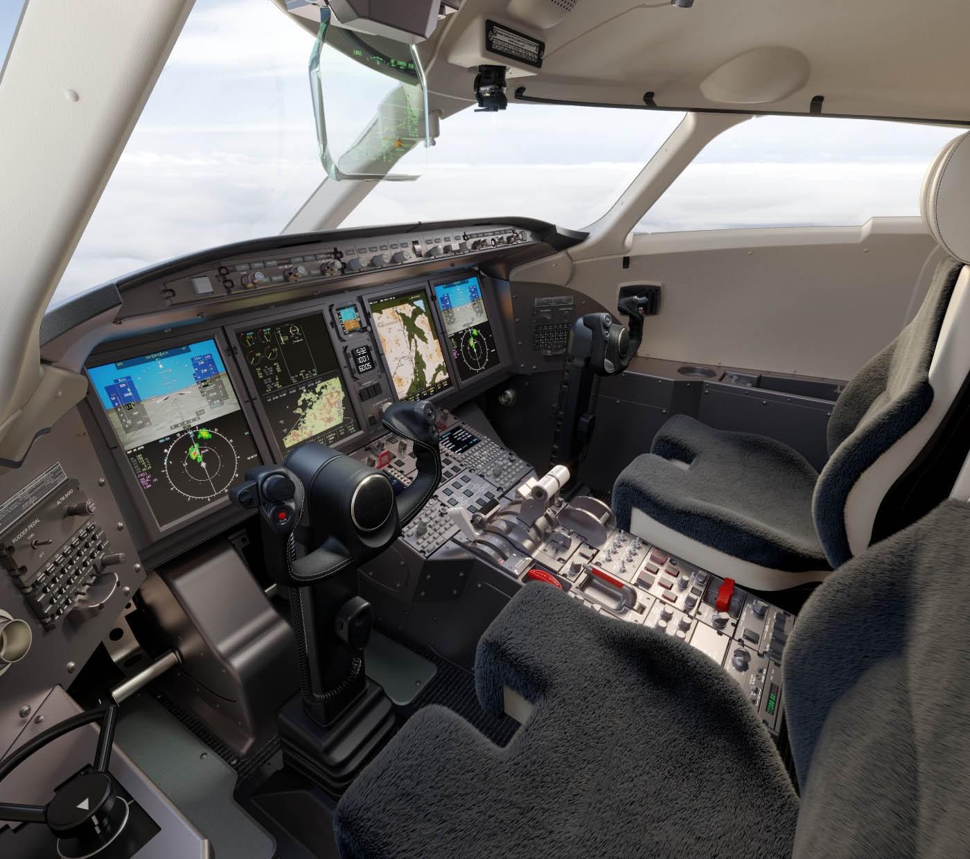Challenger 3500 cockpit