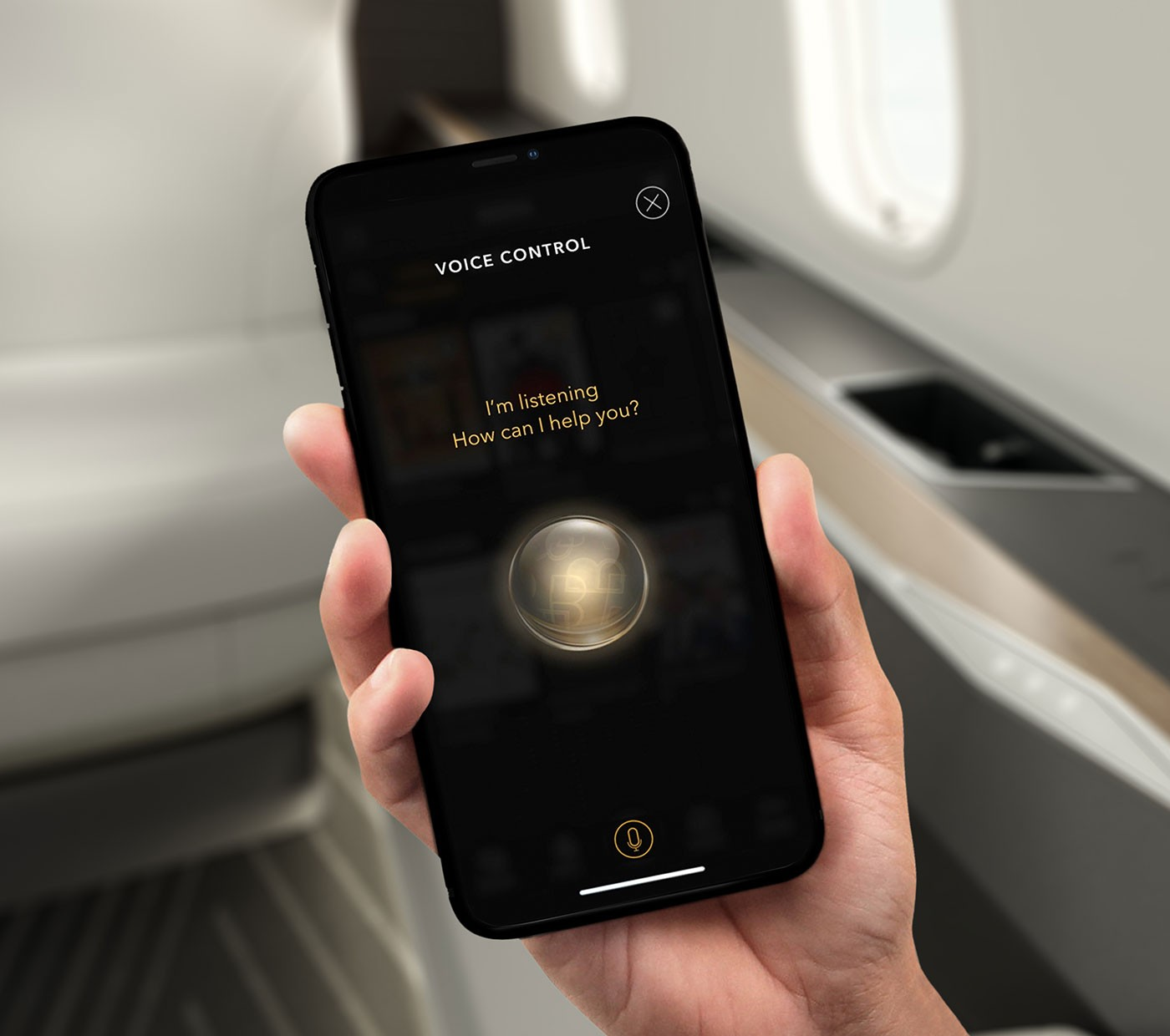 Challenger 3500 - voice control