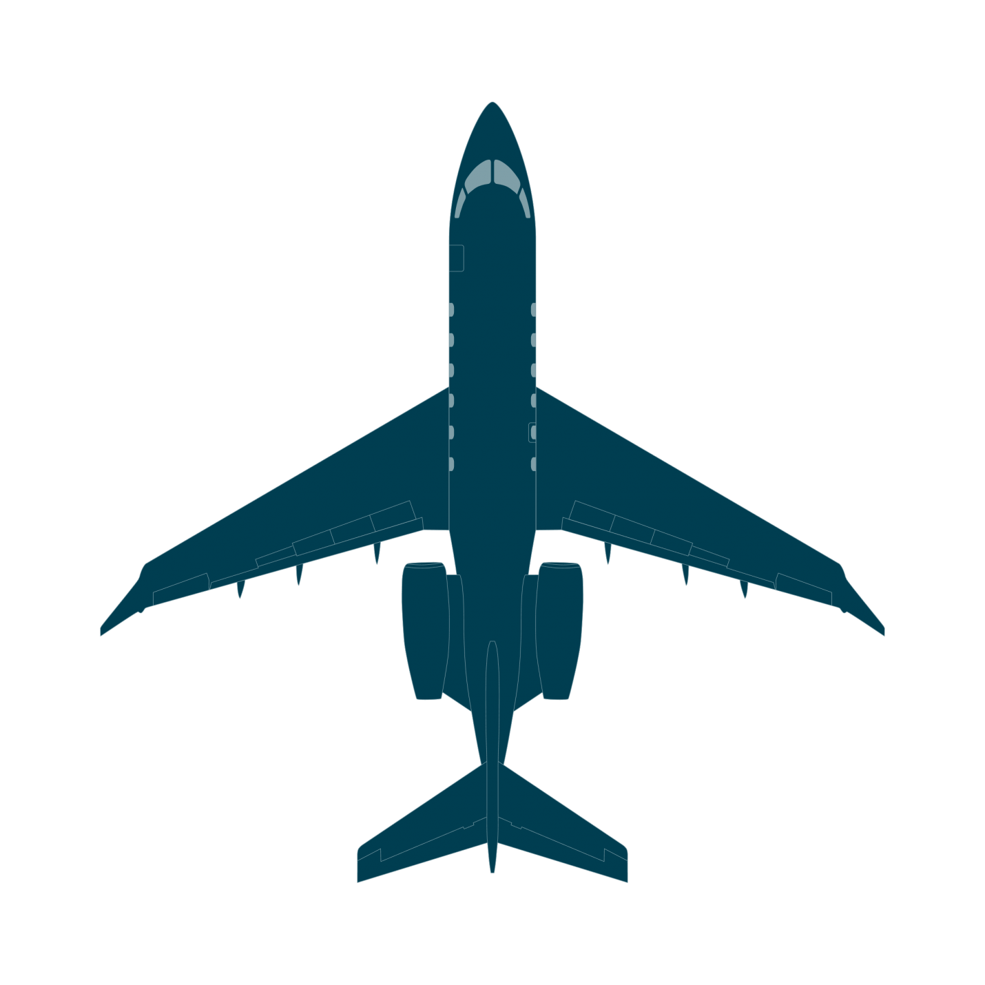 Challenger 350 top view CAD