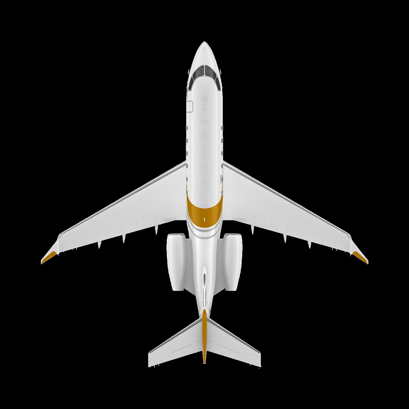 Challenger 350 top view