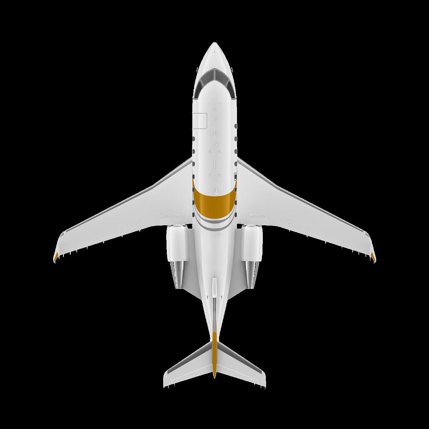 Challenger 650 top view