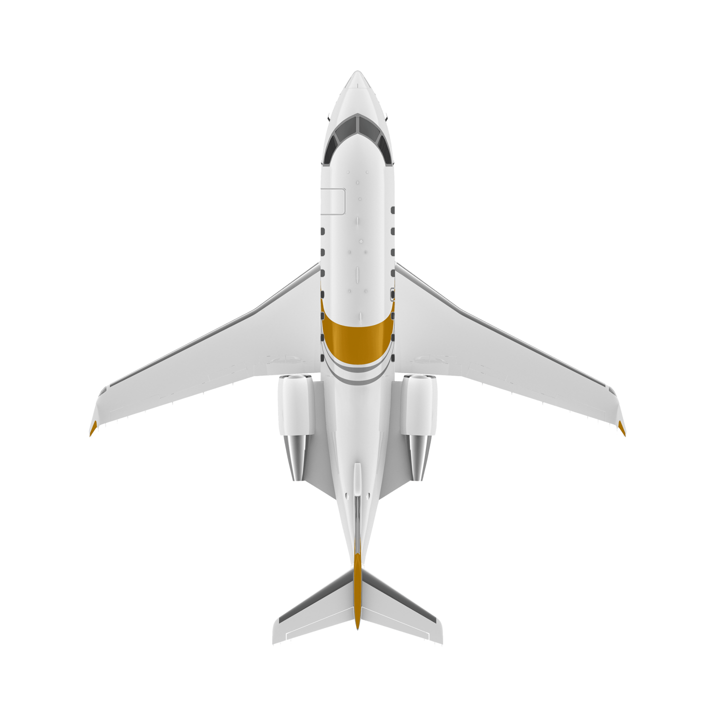 Challenger 650 top view