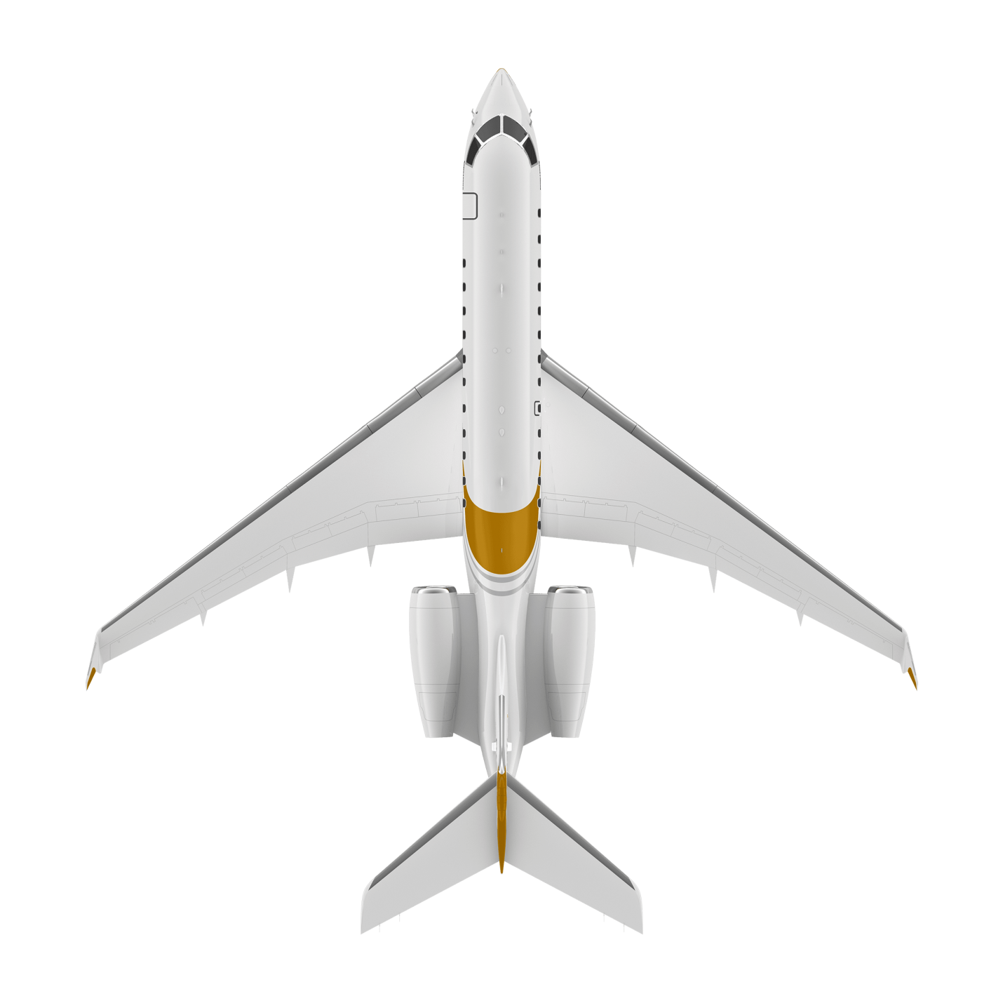 Global 5000 top view