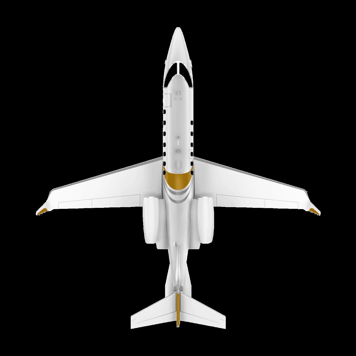 Learjet 70 top view