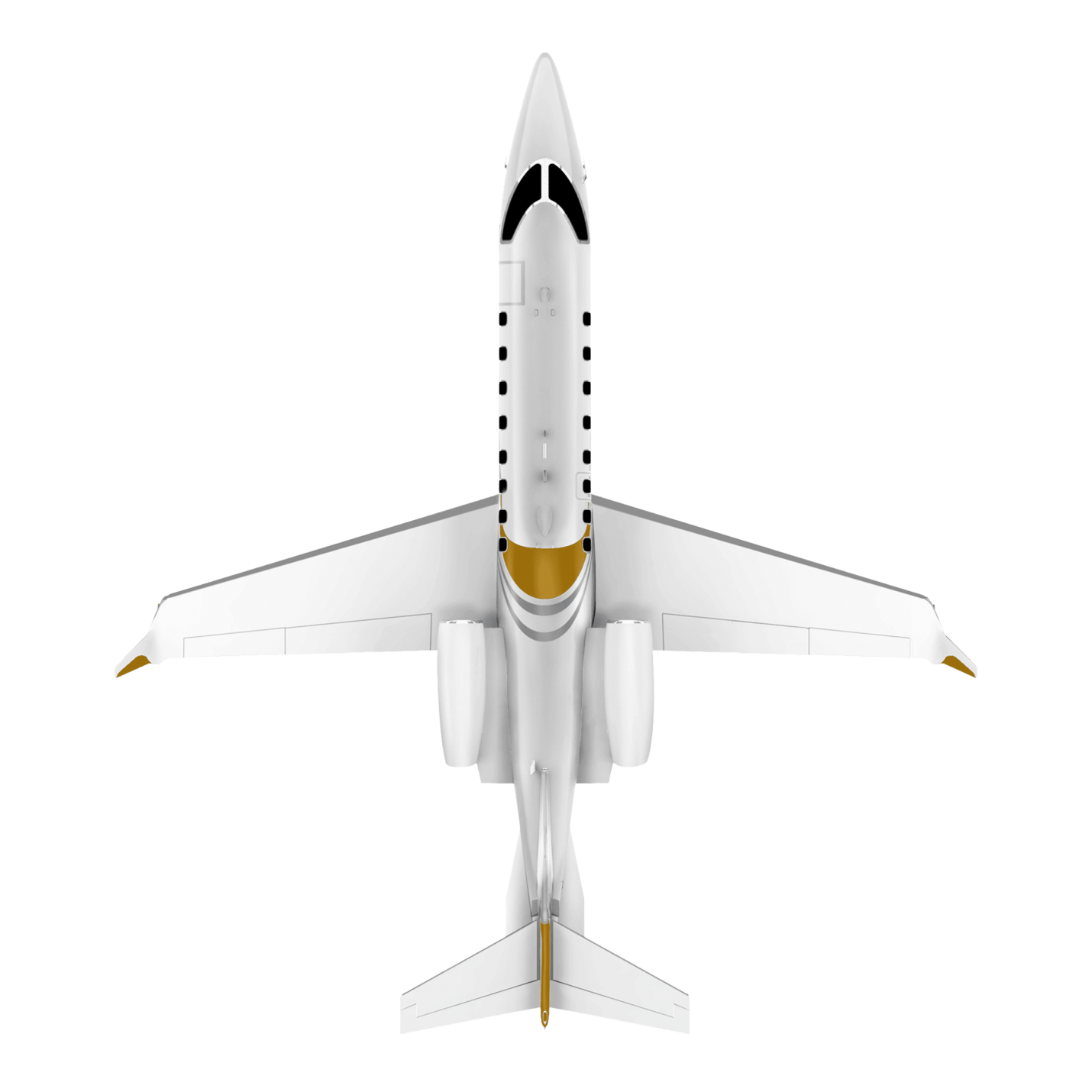 Learjet 75 top view
