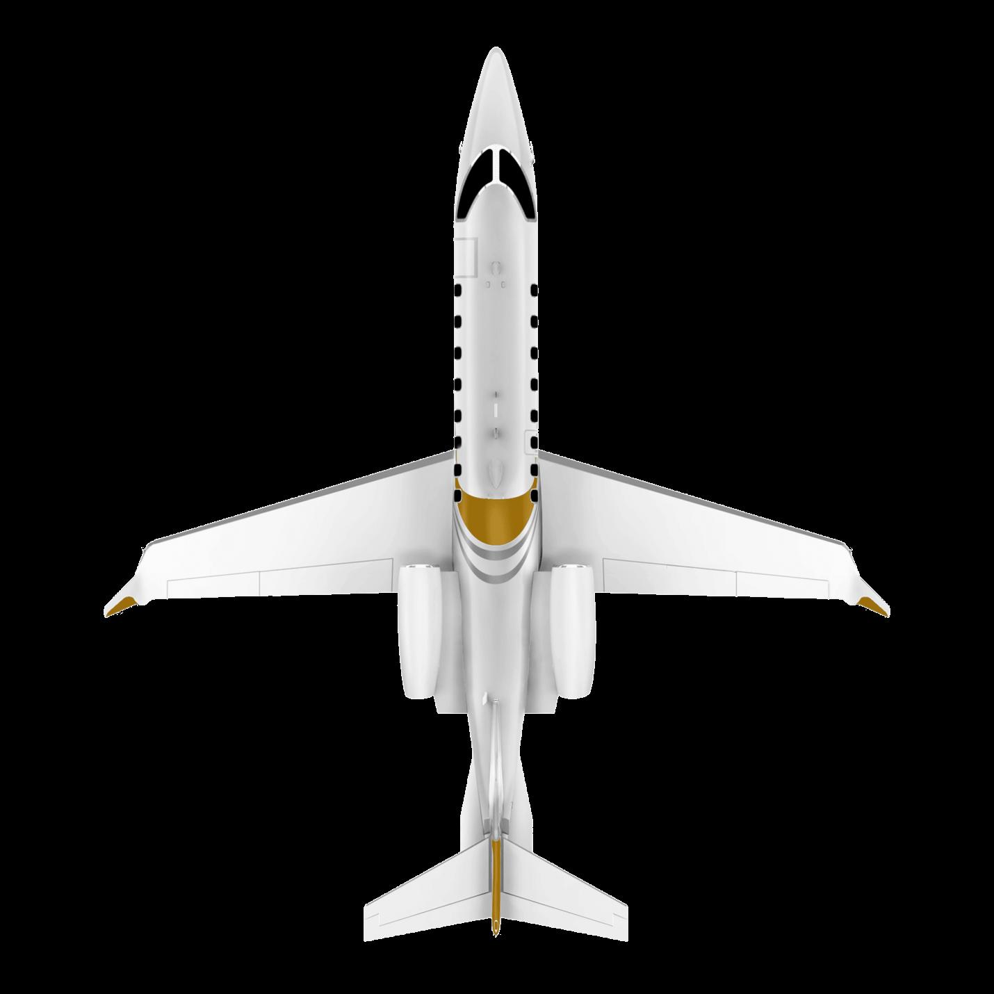 Learjet 75 top view