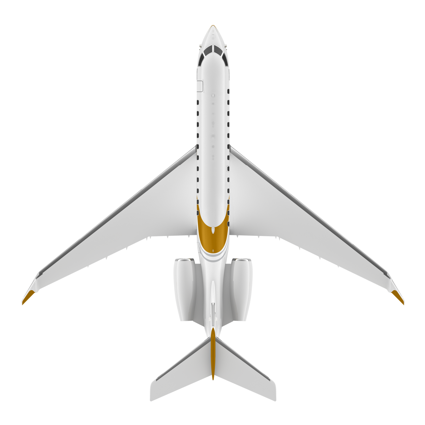 Global 8000 top view